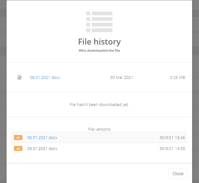 Encrypted file storage